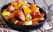 Рецепта за вечеря: Чеснови картофи с наденица