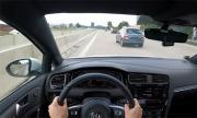 Катастрофа с 240 км/ч на аутобана от първо лице (ВИДЕО)