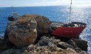 Корабът край Яйлата е заседнал заради неадекватно поведение на екипажа