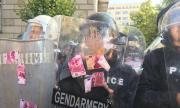 Първи арест на протеста днес (СНИМКИ + ВИДЕО)