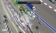 Тежък инцидент прекрати Формула 2 в Сочи