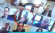 Глобяват Банов, пушил на онлайн заседание