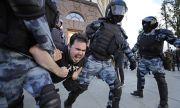 Най-малко 182 арестувани по време на протести в подкрепа на Навални