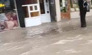Порой наводни центъра на Велико Търново (ВИДЕО)