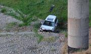 Автомобил полетя в кратер на АМ