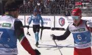 Ски-бегачи се хванаха за гушите след финиша (ВИДЕО)