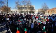 Протест срещу бежански центрове в Лесово