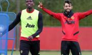Звездите на Манчестър Юнайтед са се контузили взаимно по време на тренировка