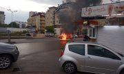 Автомобил изгоря като факла на столичен булевард (СНИМКИ)