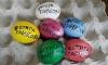 Българи по света боядисаха яйца с протестни надписи