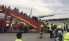 Самолет на Сингапур Еърлайн пламна след аварийно кацане