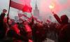 Флагът на Европейския съюз горя във Варшава